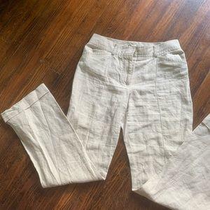 JCrew 100% Linen Pants Size 6